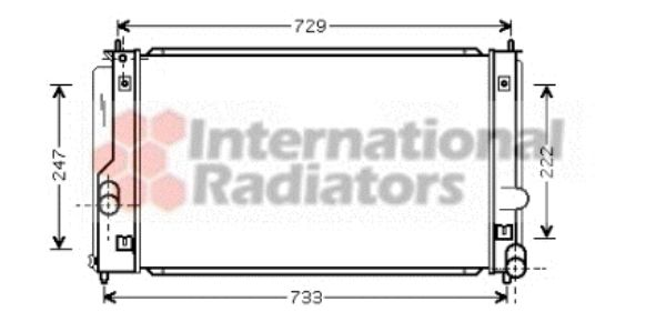 Radiateur, refroidissement du moteur - VWA - 88VWA53002295