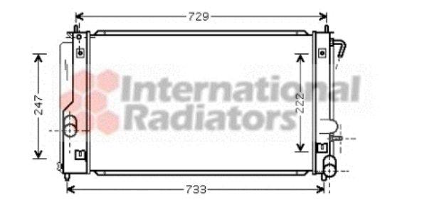 Radiateur, refroidissement du moteur - VAN WEZEL - 53002296