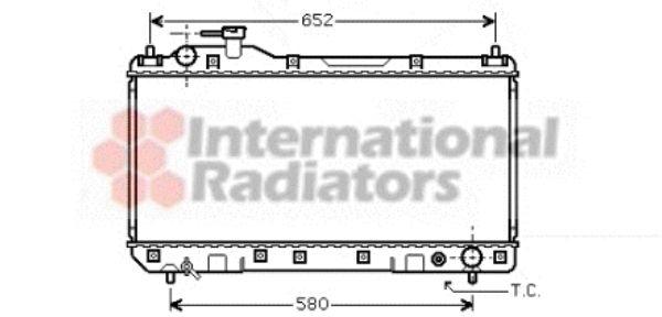 Radiateur, refroidissement du moteur - VAN WEZEL - 53002297