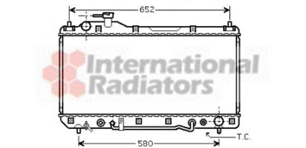 Radiateur, refroidissement du moteur - VAN WEZEL - 53002298