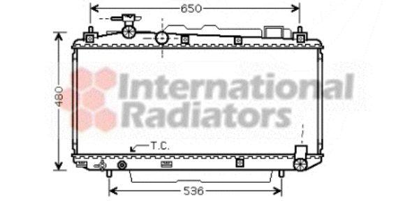 Radiateur, refroidissement du moteur - VAN WEZEL - 53002299