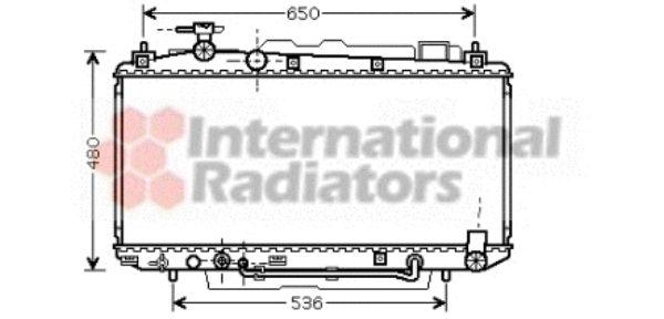 Radiateur, refroidissement du moteur - VAN WEZEL - 53002300