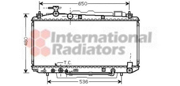 Radiateur, refroidissement du moteur - VAN WEZEL - 53002301