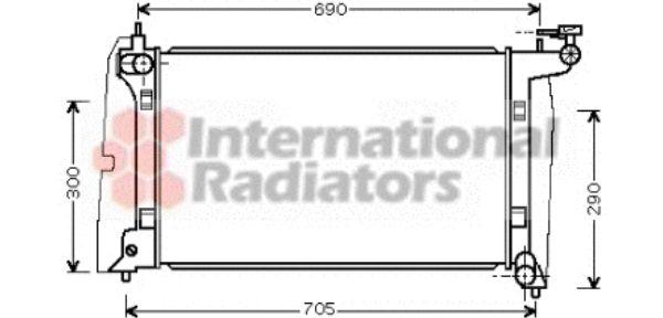 Radiateur, refroidissement du moteur - VAN WEZEL - 53002302