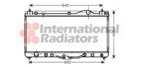 Radiateur, refroidissement du moteur - VAN WEZEL - 53002303
