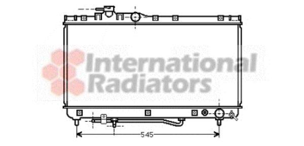 Radiateur, refroidissement du moteur - VAN WEZEL - 53002304