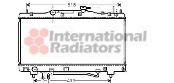 Radiateur, refroidissement du moteur - VAN WEZEL - 53002308