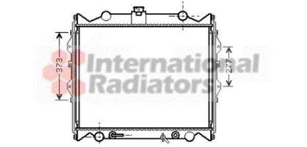 Radiateur, refroidissement du moteur - VAN WEZEL - 53002311
