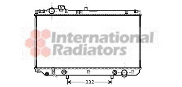Radiateur, refroidissement du moteur - VAN WEZEL - 53002313