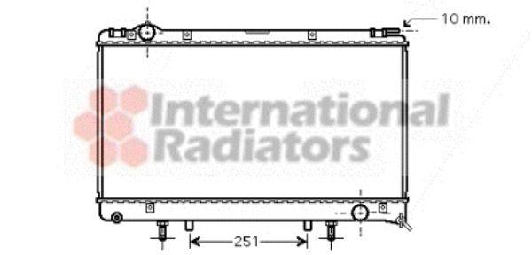 Radiateur, refroidissement du moteur - VAN WEZEL - 53002314