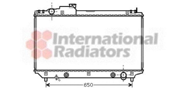Radiateur, refroidissement du moteur - VAN WEZEL - 53002315