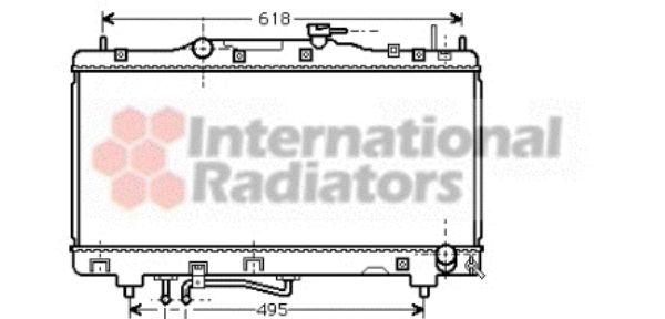 Radiateur, refroidissement du moteur - VAN WEZEL - 53002316