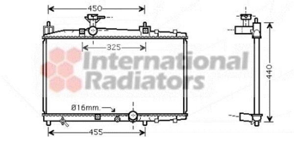 Radiateur, refroidissement du moteur - VAN WEZEL - 53002317