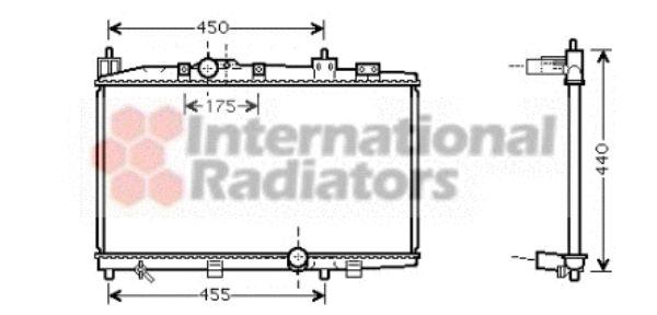 Radiateur, refroidissement du moteur - VAN WEZEL - 53002318