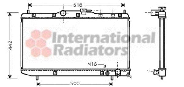 Radiateur, refroidissement du moteur - VAN WEZEL - 53002320