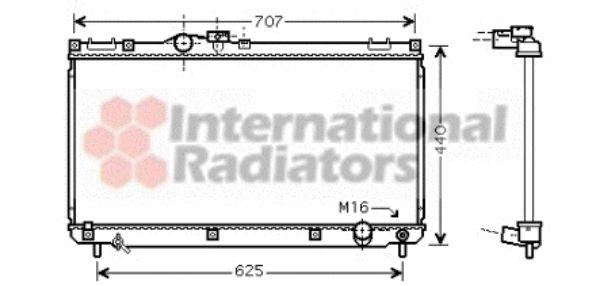 Radiateur, refroidissement du moteur - VWA - 88VWA53002321