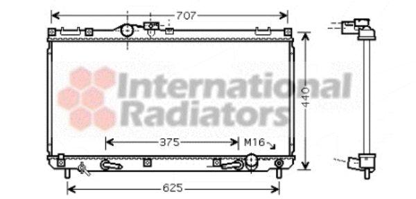 Radiateur, refroidissement du moteur - VAN WEZEL - 53002322