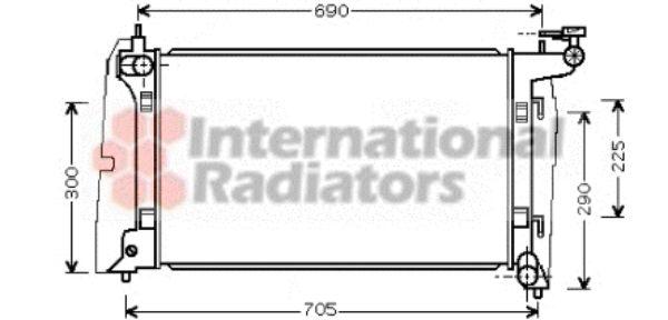 Radiateur, refroidissement du moteur - VAN WEZEL - 53002323
