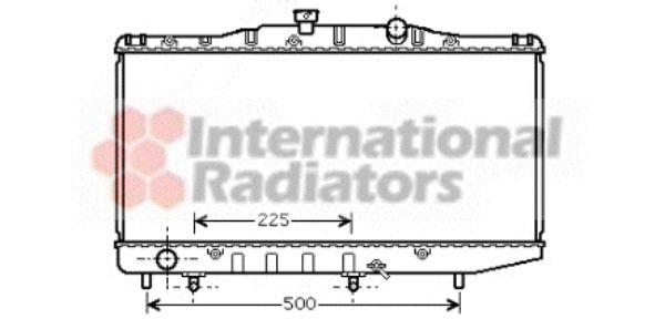 Radiateur, refroidissement du moteur - VAN WEZEL - 53002325