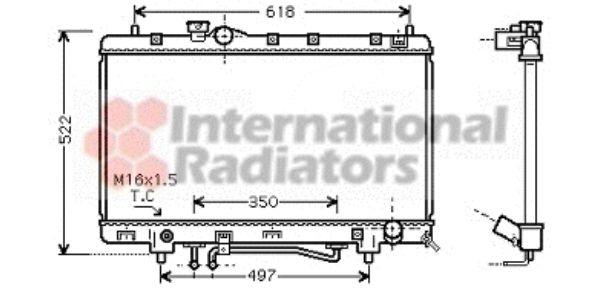 Radiateur, refroidissement du moteur - VAN WEZEL - 53002330
