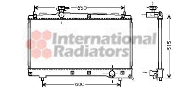 Radiateur, refroidissement du moteur - VAN WEZEL - 53002331