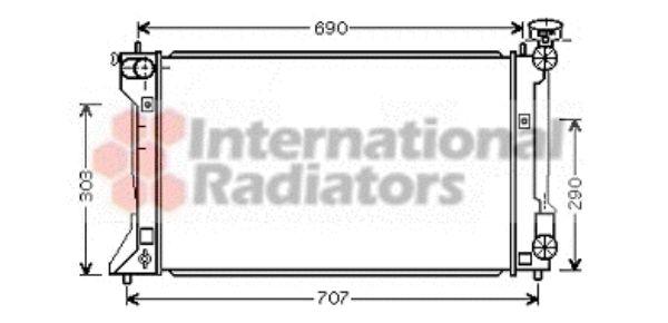 Radiateur, refroidissement du moteur - VAN WEZEL - 53002333
