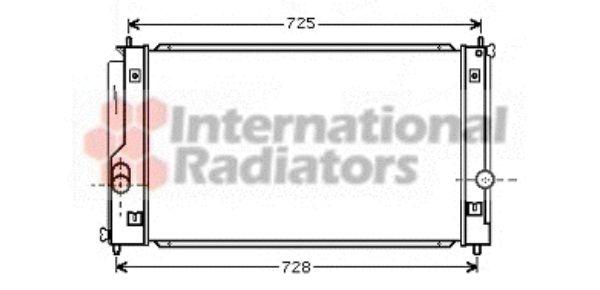 Radiateur, refroidissement du moteur - VAN WEZEL - 53002334
