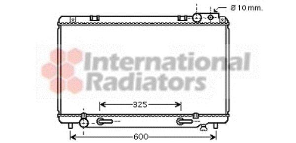 Radiateur, refroidissement du moteur - VAN WEZEL - 53002338