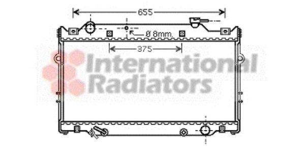 Radiateur, refroidissement du moteur - VAN WEZEL - 53002339