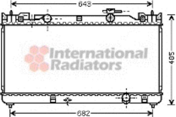 Radiateur, refroidissement du moteur - VAN WEZEL - 53002341