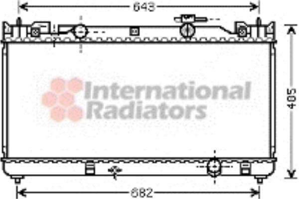 Radiateur, refroidissement du moteur - VWA - 88VWA53002341