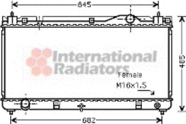 Radiateur, refroidissement du moteur - VAN WEZEL - 53002342