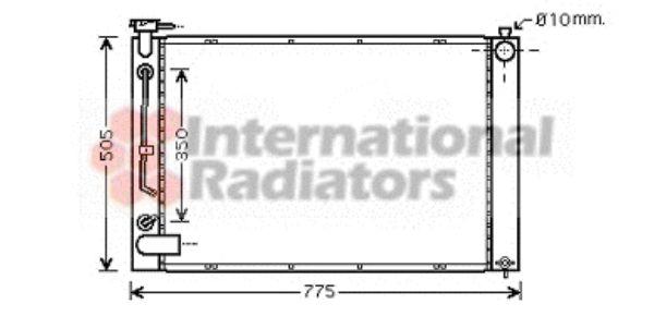 Radiateur, refroidissement du moteur - VAN WEZEL - 53002343