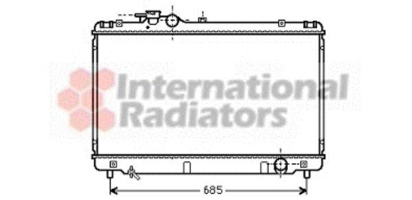 Radiateur, refroidissement du moteur - VAN WEZEL - 53002344