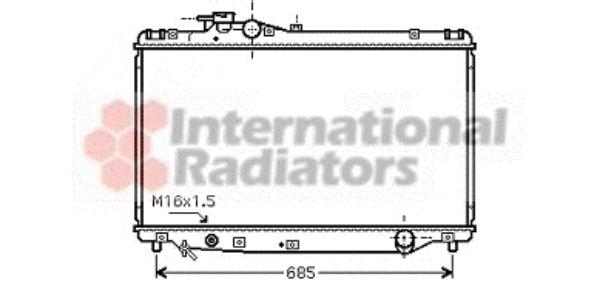 Radiateur, refroidissement du moteur - VWA - 88VWA53002347