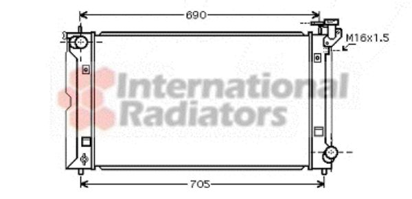 Radiateur, refroidissement du moteur - VAN WEZEL - 53002351