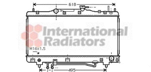 Radiateur, refroidissement du moteur - VAN WEZEL - 53002352