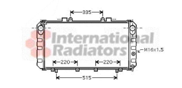 Radiateur, refroidissement du moteur - VAN WEZEL - 53002355