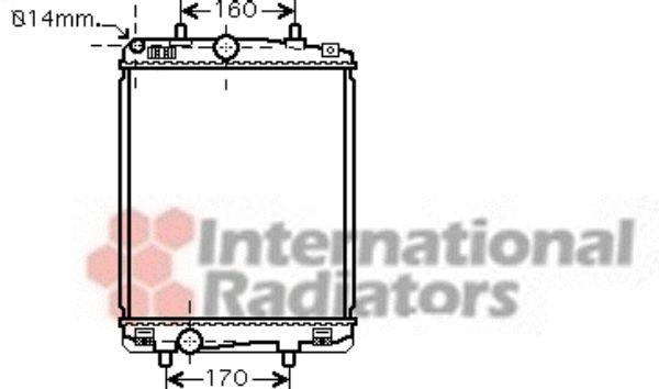 Radiateur, refroidissement du moteur - VAN WEZEL - 53002359