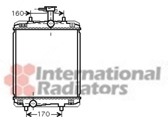 Radiateur, refroidissement du moteur - VAN WEZEL - 53002360