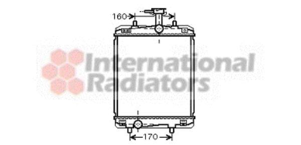 Radiateur, refroidissement du moteur - VAN WEZEL - 53002363