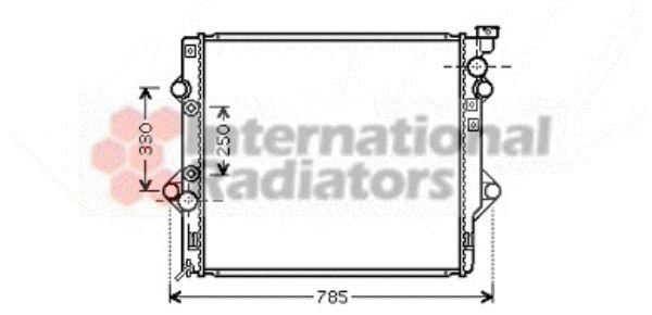 Radiateur, refroidissement du moteur - VAN WEZEL - 53002367