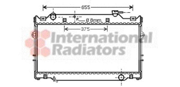 Radiateur, refroidissement du moteur - VAN WEZEL - 53002370