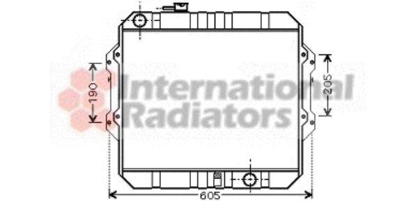 Radiateur, refroidissement du moteur - VAN WEZEL - 53002371