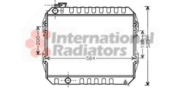 Radiateur, refroidissement du moteur - VAN WEZEL - 53002374