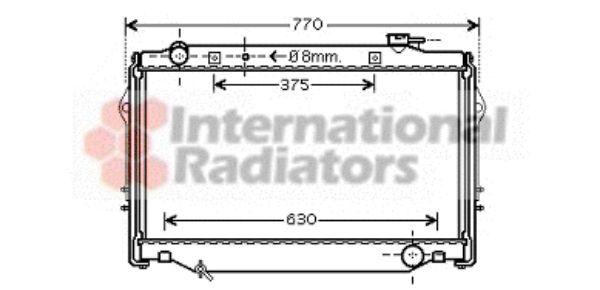 Radiateur, refroidissement du moteur - VAN WEZEL - 53002375