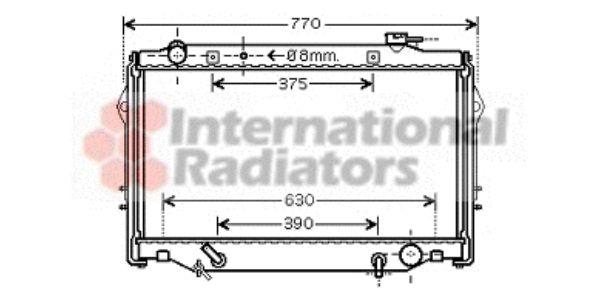 Radiateur, refroidissement du moteur - VAN WEZEL - 53002376