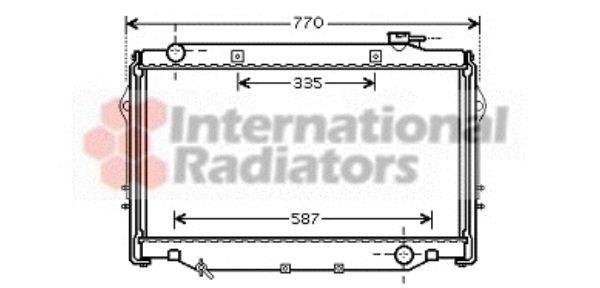 Radiateur, refroidissement du moteur - VAN WEZEL - 53002377