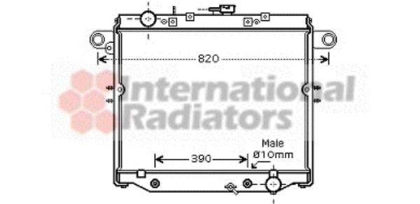 Radiateur, refroidissement du moteur - VAN WEZEL - 53002378