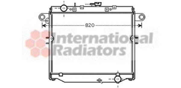 Radiateur, refroidissement du moteur - VAN WEZEL - 53002379